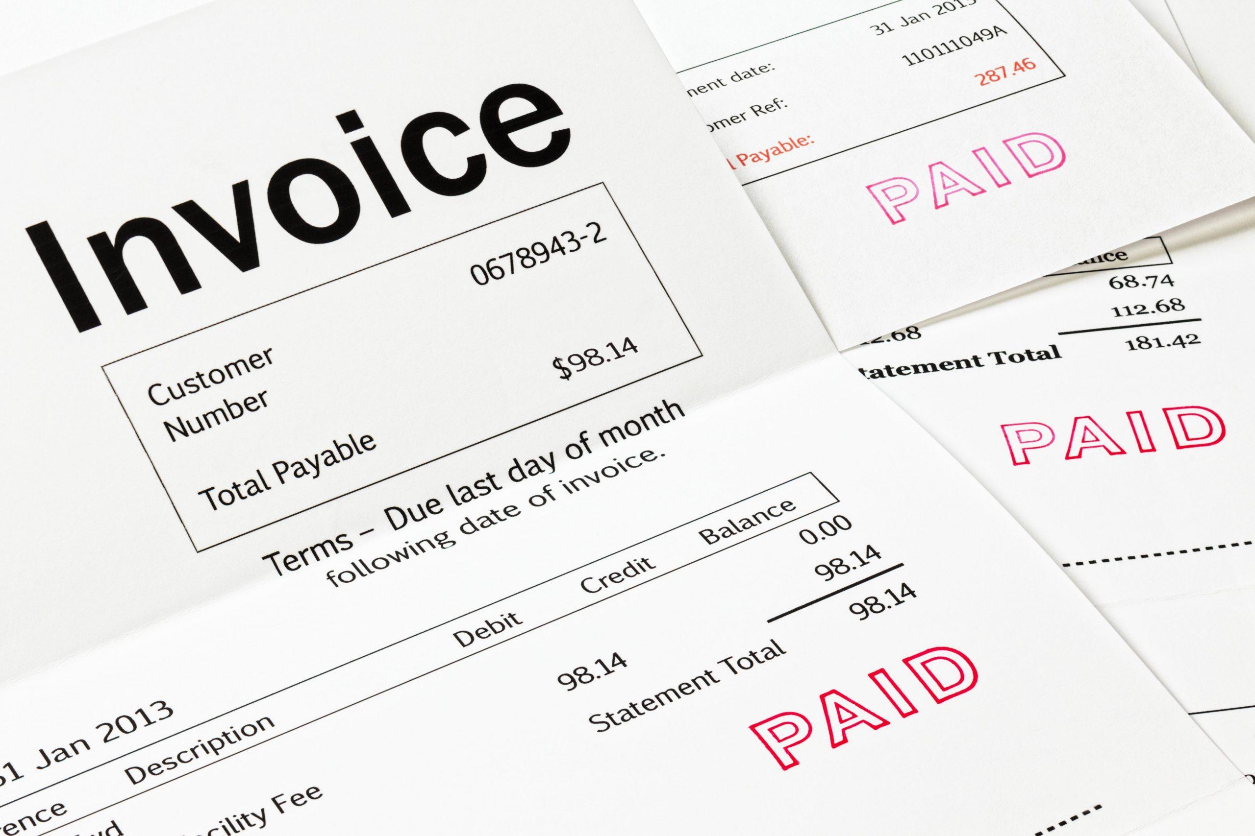 Monthly Invoice